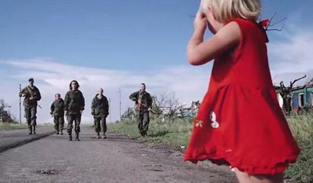 Бойовики використали дітей в антиукраїнській пропаганді (фото, відео)