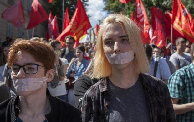 Протест за Интернет: как копы москвичей задерживали