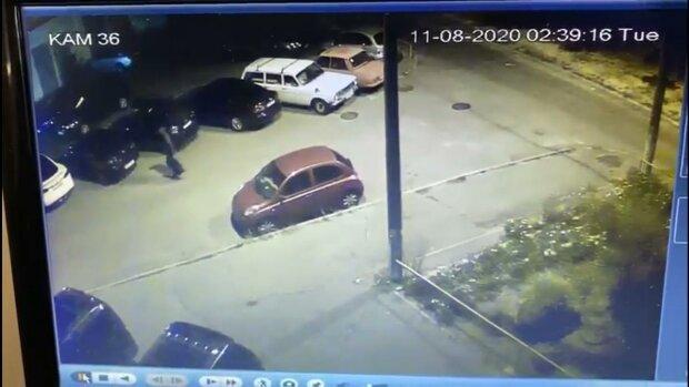 підпал Tesla Андрія Богдана, скріншот з відео