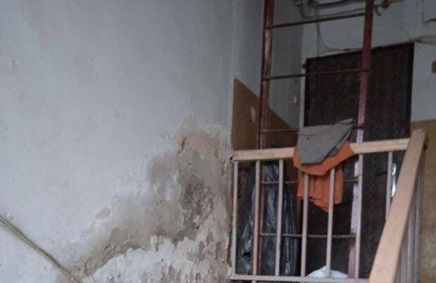 Харьковчане показали дом ужаса на всю Украину: стены гниют, потолок сыпется на голову