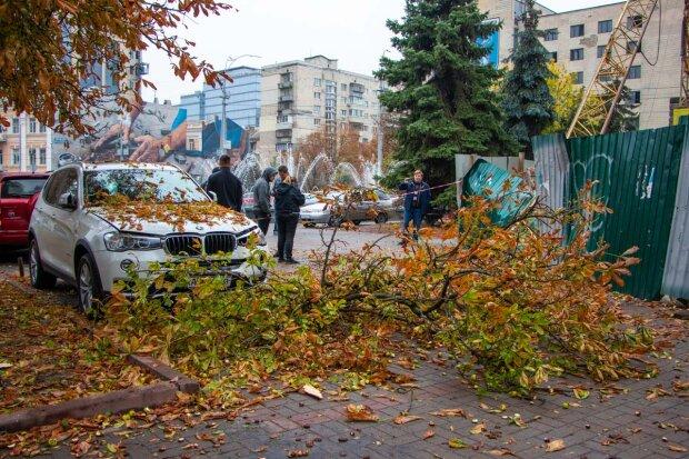В центре Киева гигантский строительный кран потерял равновесие и упал на людей: первые кадры