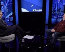 Юрий Романенко и Александр Керенский, скриншот с видео