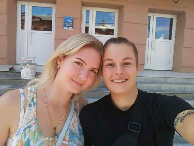 Аліна Новікова (праворуч) / фото: рибка Дніпро