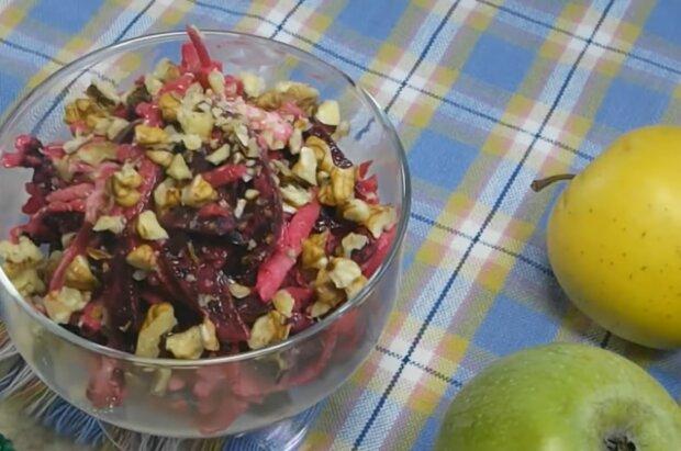 Салат з червоного буряка, кадр з відео