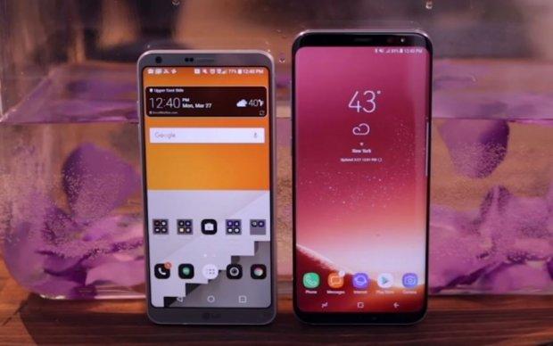 Samsung Galaxy S8 сравнили с LG G6