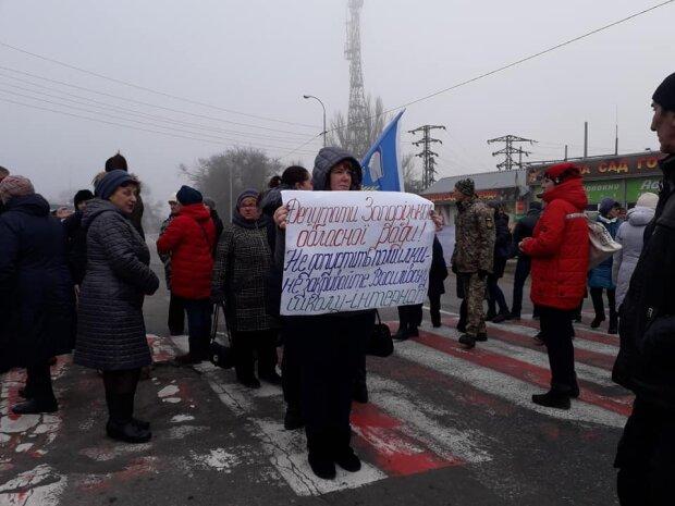 Протест в Васильевке, фото: facebook