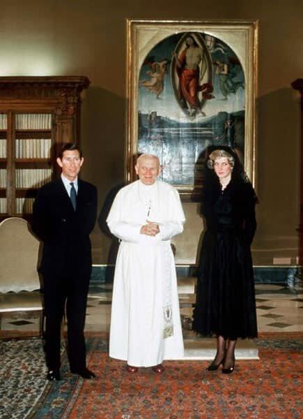Принц Чарльз і принцеса Діана у Ватикані