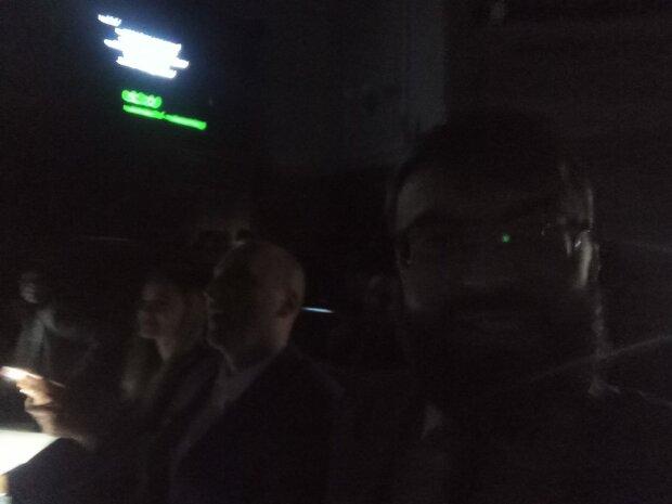 в Верховной Раде отключили свет, скрин с видео