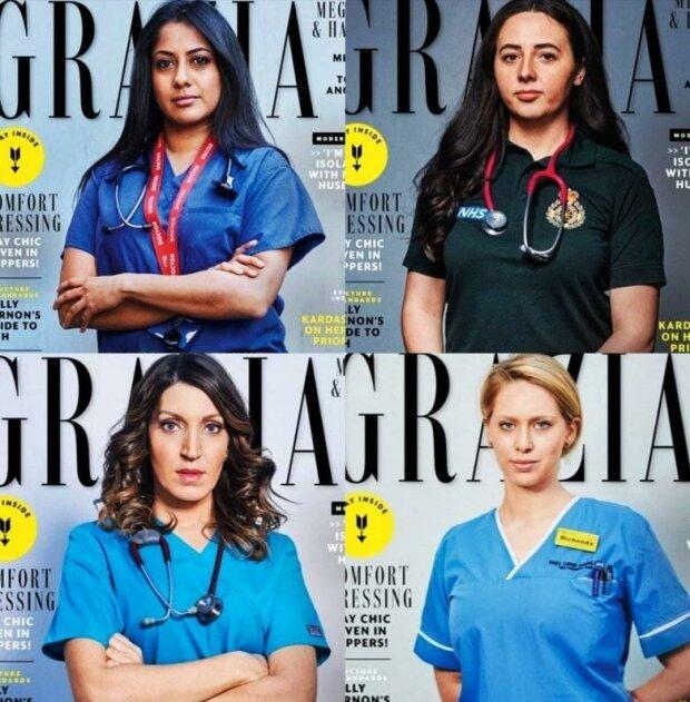 Жінки-медики на обкладинці Grazia, фото: Mihail Shnayder / Facebook