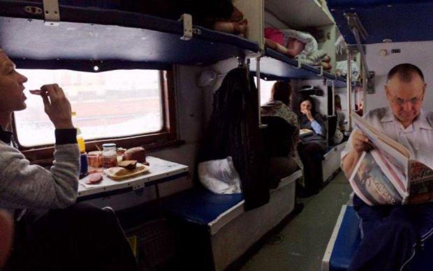 Паштет, огірки, тушонка та сік: пасажир Інтерсіті влаштував газову атаку в потягу