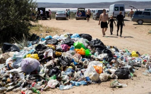 Окупантські свині перетворили Крим на гігантський смітник: красномовні фото