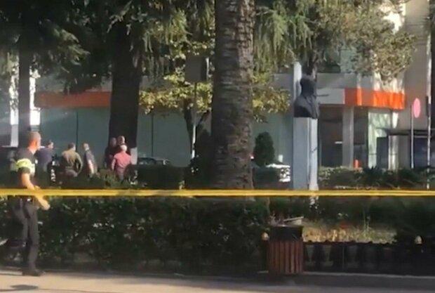 захоплення банку в Грузії, скріншот з відео