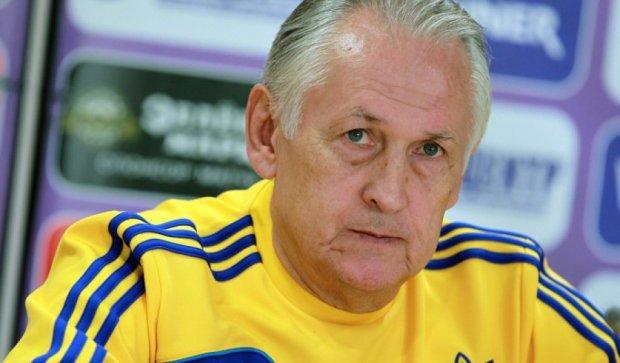 Судьбу тренеров сборных Украины по футболу будут определять в декабре
