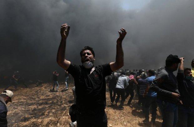 Похоже на апокалипсис: сектор Газа забросал Израиль ракетами, небо смешалось с землей, видеошок