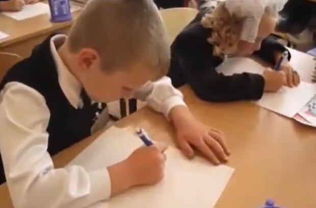 Першокласники, фото: кадр з відео