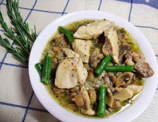 Куриное фрикасе с грибами: пошаговый рецепт