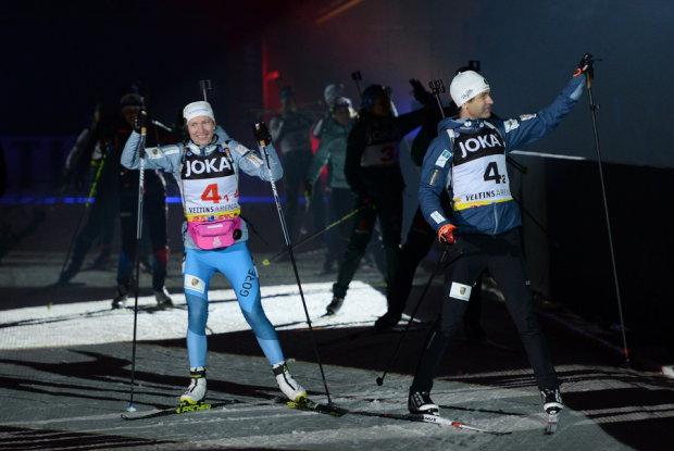 Бьорндален и Домрачева выиграли самые трогательные медали в карьере