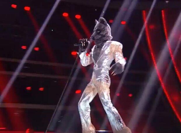"Волк на шоу ""Маска"", кадр из видео"