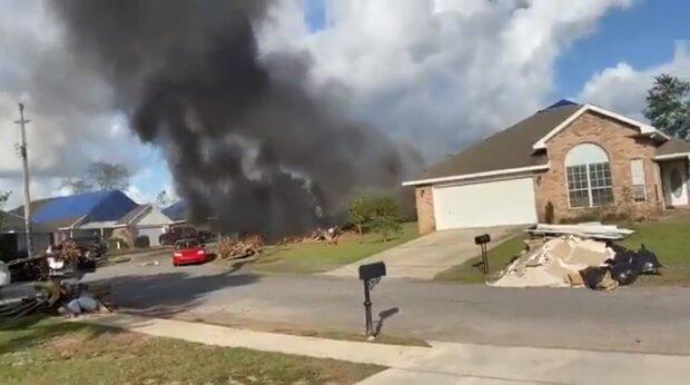 Падение самолета в США, скриншот: Twitter