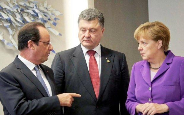 Порошенко, Меркель и Олланд созвонятся без Путина