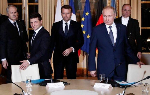 Владимир Зеленский и Путин. Фото: Громадське.