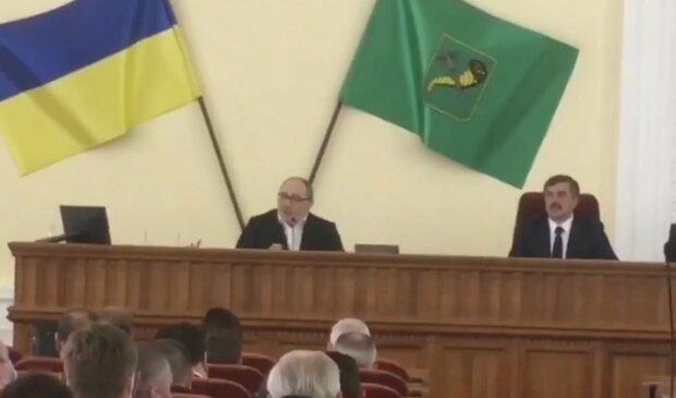 сессия Харьковского горсовета, скриншот из видео