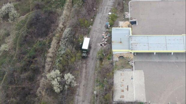 вантажівка бойовиків на Донбасі, скріншот з відео