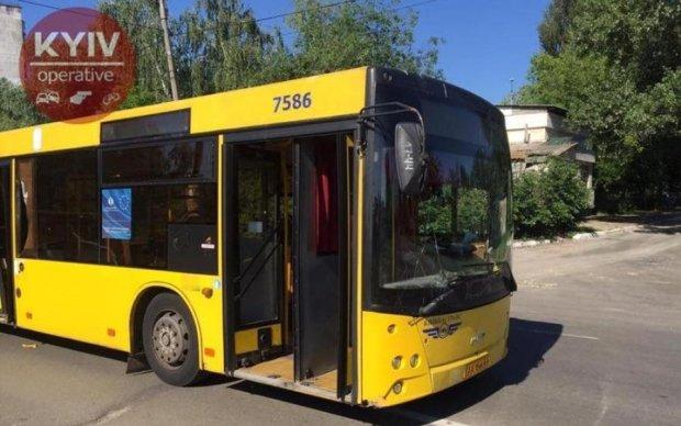 На столичной Борщаговке маршрутка протаранила автобус