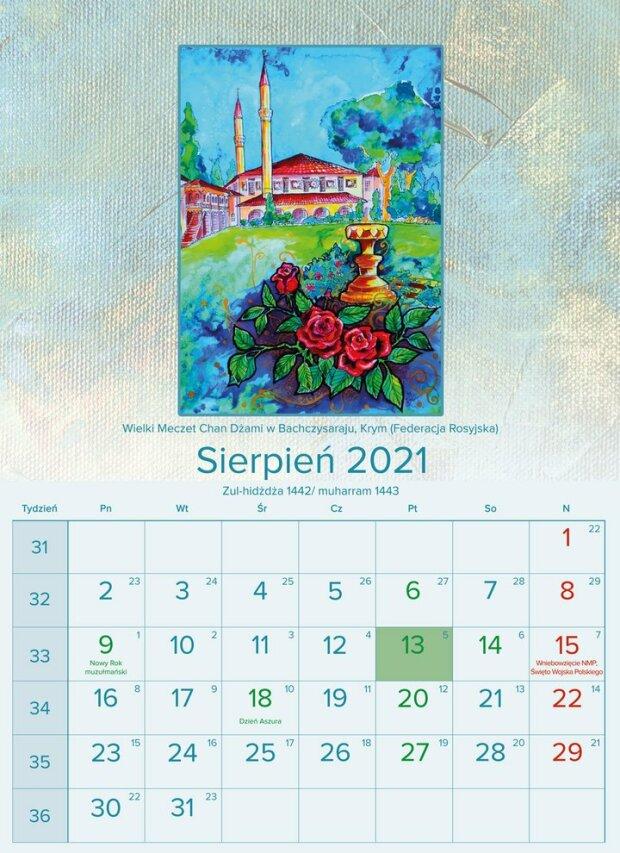 """Польський календар з """"російським"""" Кримом, фото: Mzr.pl"""