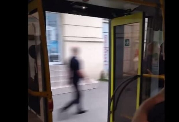 Автобус, скріншот з відео Telegram-каналу