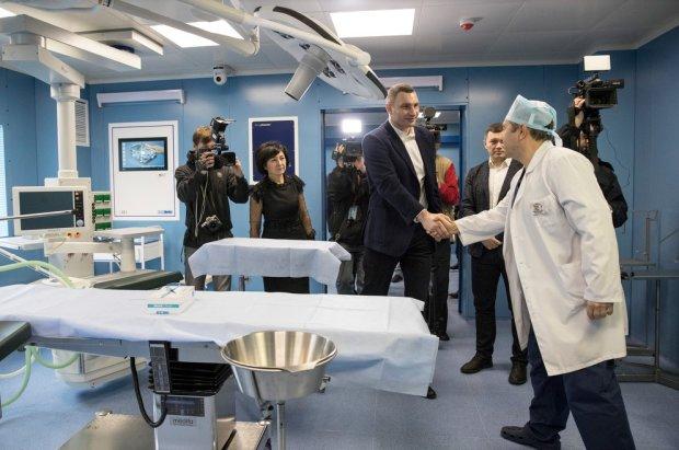 Кличко: Новое оборудование в больнице №1 позволяет врачам консультироваться с коллегами во всем мире