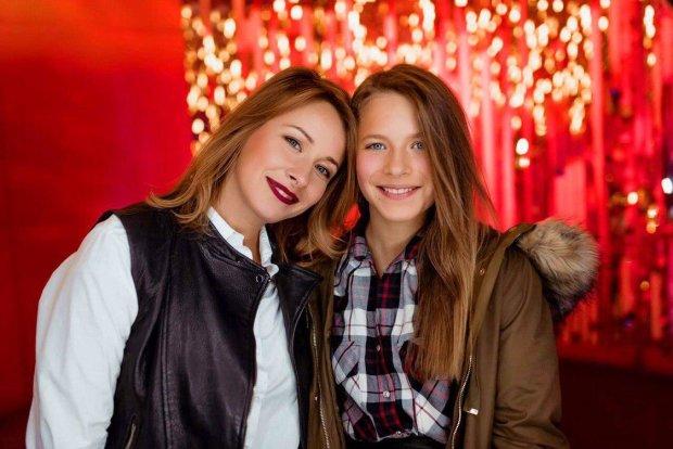 Елена Кравец со старшей дочкой
