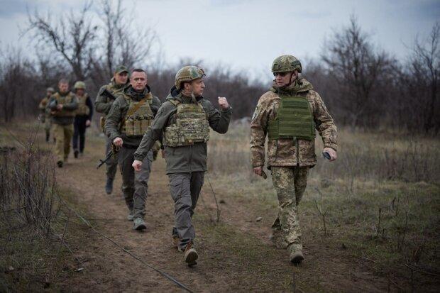 Володимир Зеленський на Донбасі, фото з Facebook ООС