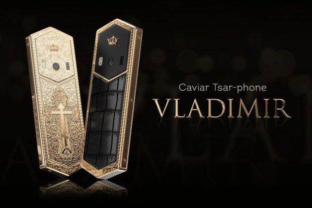 В России выпустили Tsar-phone Vladimir: золотой корпус с православным крестом за 115 тысяч