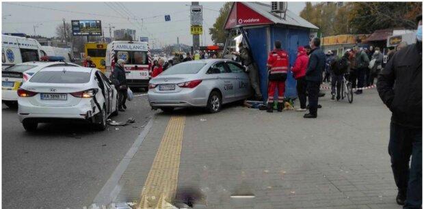 Авария в Киеве, фото: социальные сети