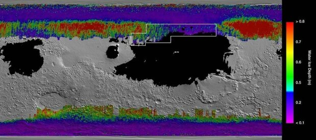 NASA показало воду на Марсі