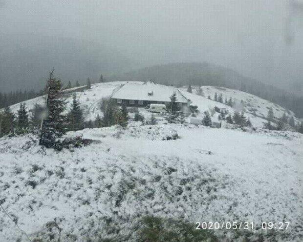 Снег в горах, фото Черногорский поисково-спасательный пост