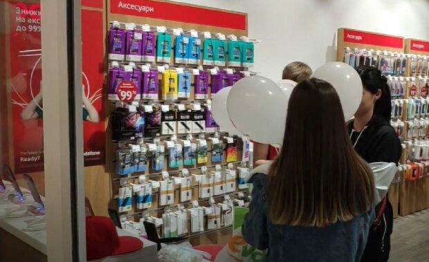 Магазин Vodafone, скріншот: YouTube