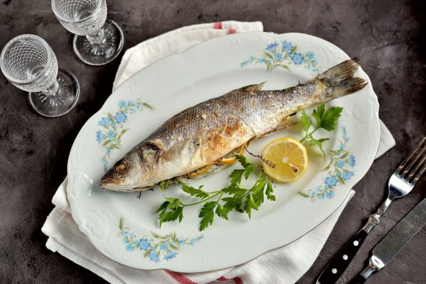 Сибас запеченный в духовке в фольге: вкусный пошаговый рецепт