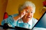 пенсіонерка за комп'ютером, ілюстративне фото з вільних джерел