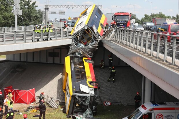 Авария в Варшаве, фото из свободных источников