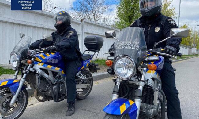 Киевских копов пересадили на мотоциклы: ни один нарушитель не убежит