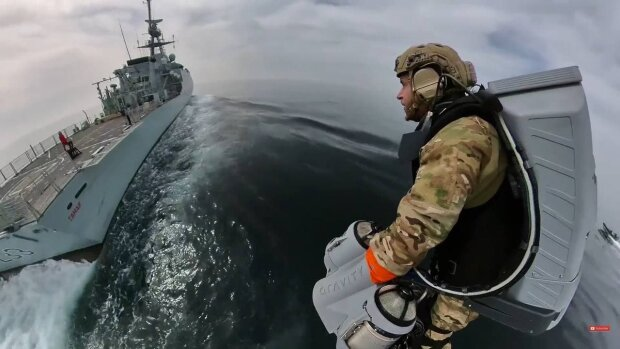 Політ на джетпаку / скріншот з відео