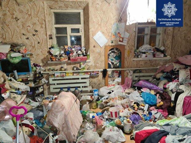 Мусор в доме / фото: Патрульная полиция