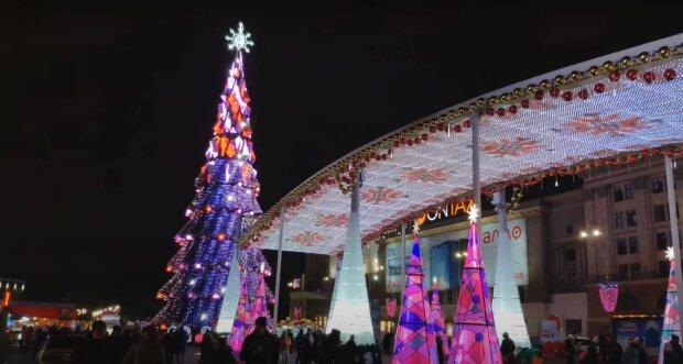 Новорічний Харків, скріншот з відео