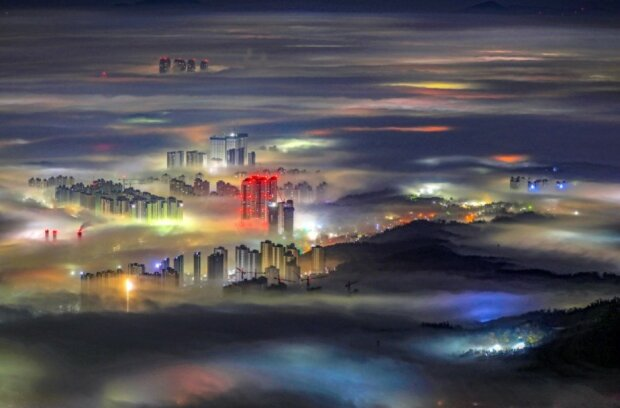 """Місто туману"". Коян, Південна Корея Фото: Chunseong Bang / via WMO"