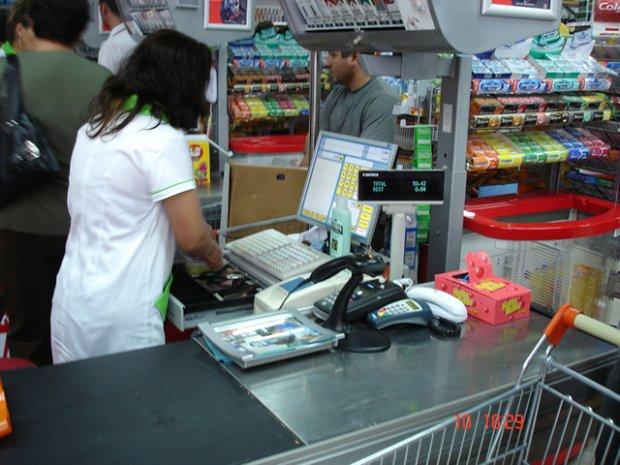 касса супермаркета