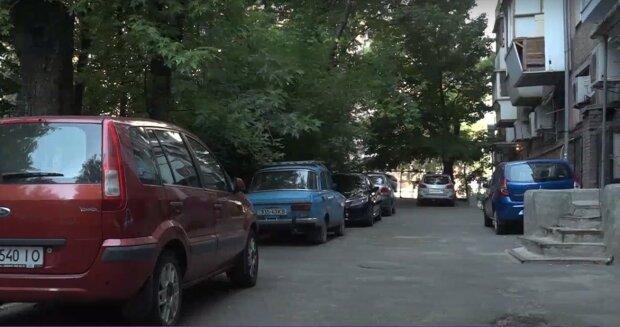 парковка, скріншот з відео