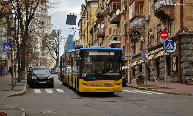 Відкрив двері та влетів у тролейбус: недолугий водій підняв на вуха весь Київ