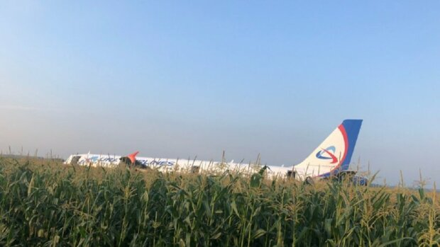 Палаючий літак впав у Росії: сотні пасажирів екстрено евакуювали